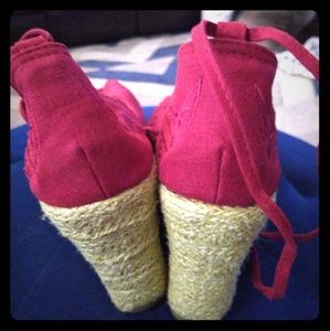 Women's ankle tye, open toe, espadrilles